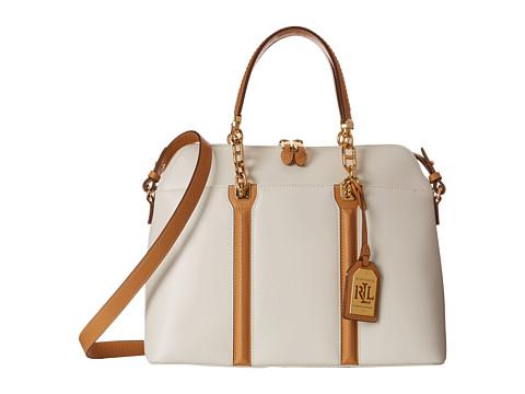LAUREN by Ralph Lauren - Adlington Dome Satchel (Vanilla) Satchel Handbags