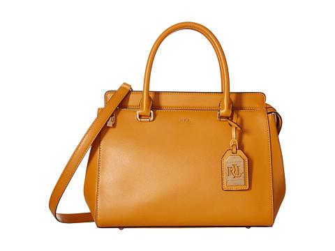 LAUREN by Ralph Lauren - Whitby Convertible Satchel (Amber) Satchel Handbags