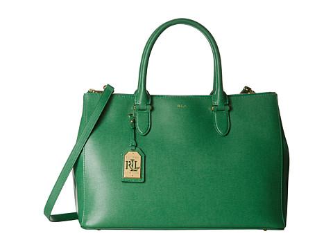 LAUREN by Ralph Lauren - Newbury Double Zip Satchel (Fern) Satchel Handbags