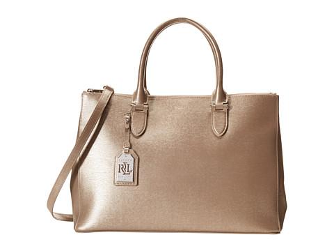 LAUREN by Ralph Lauren - Newbury Double Zip Satchel (Silver Mink) Satchel Handbags