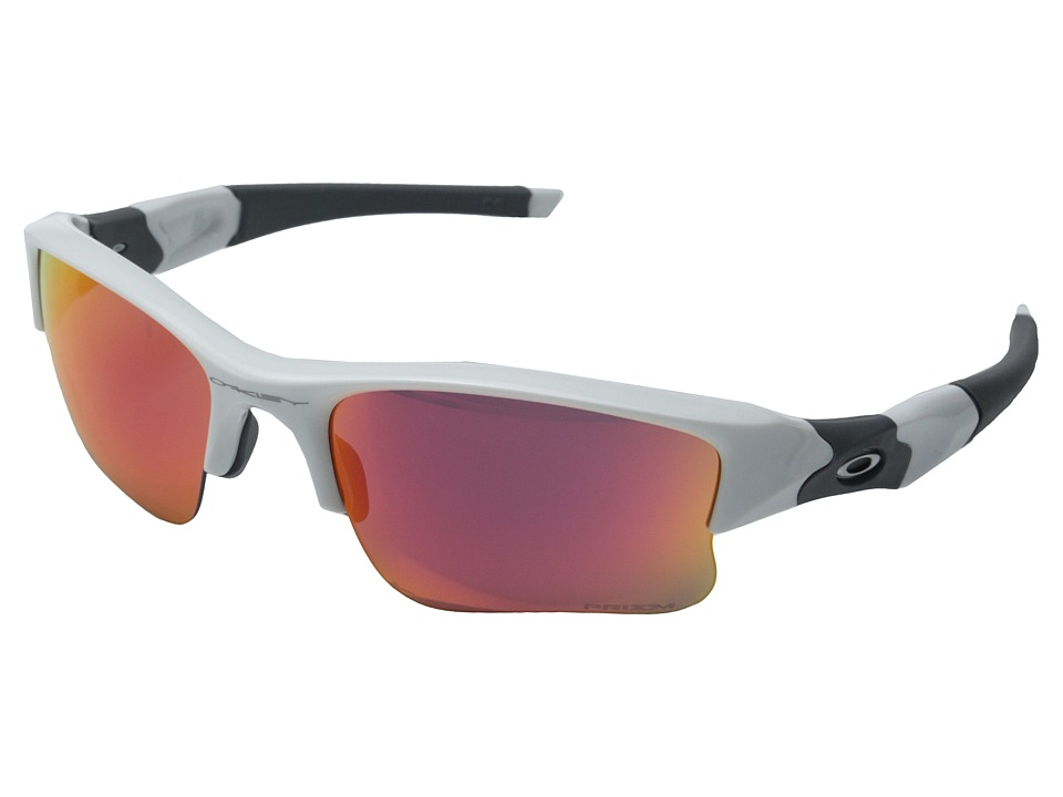 Oakley - Flak Jacket XLJ (Polished White/Prizm Outfield) Sport Sunglasses