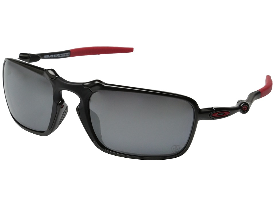 Oakley - Badman (Dark Carbon/Black Iridium Polarized 1) Sport Sunglasses