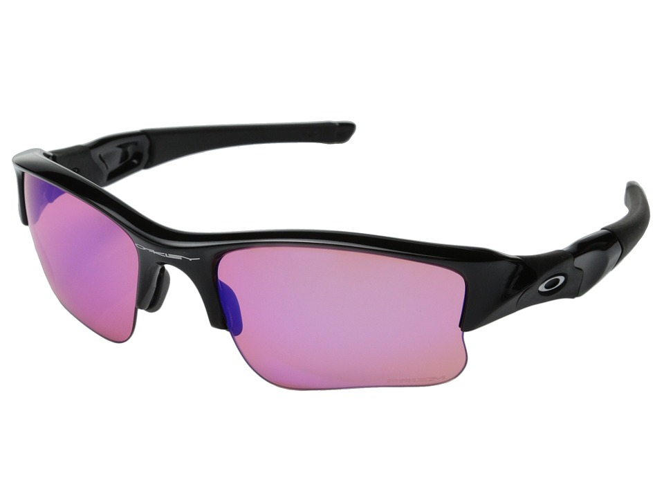 Oakley - Flak Jacket XLJ (Polished Black/Black Iridium) Sport Sunglasses