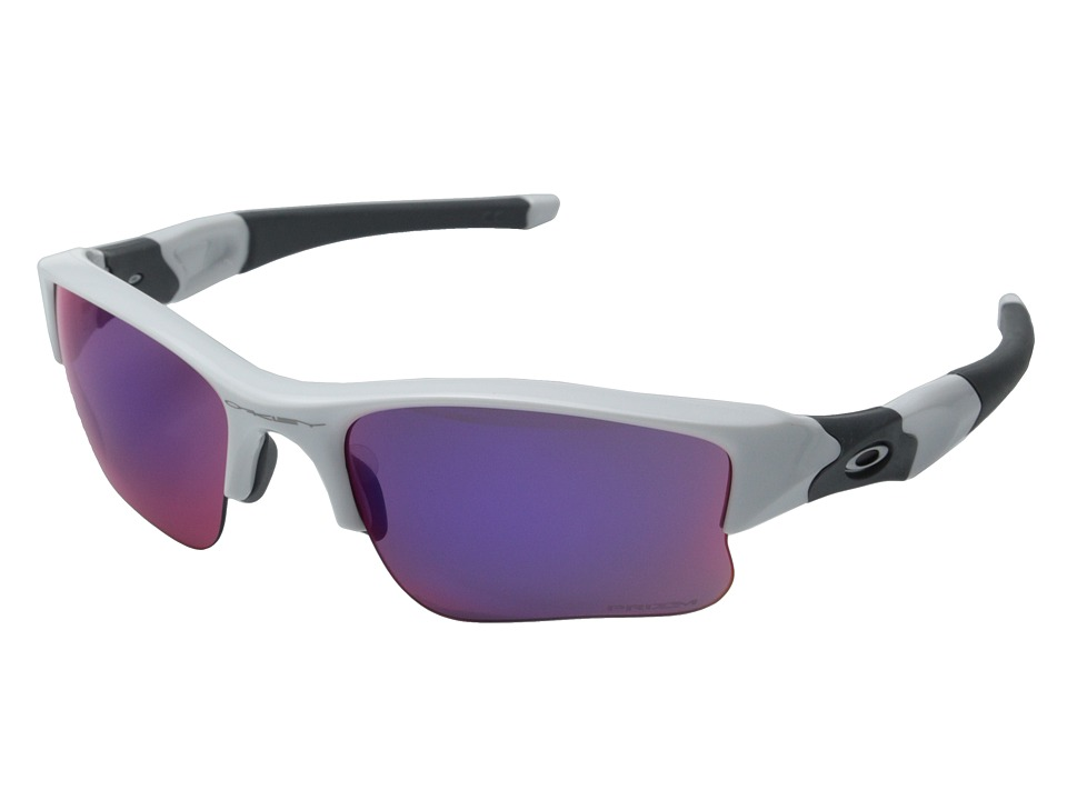 Oakley - Flak Jacket XLJ (Polished White/Black Iridium) Sport Sunglasses