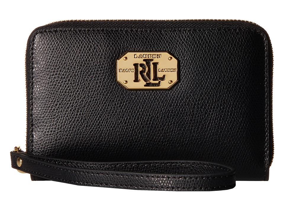 LAUREN Ralph Lauren - Whitby Tech Zip Wristlet (Black) Wristlet Handbags
