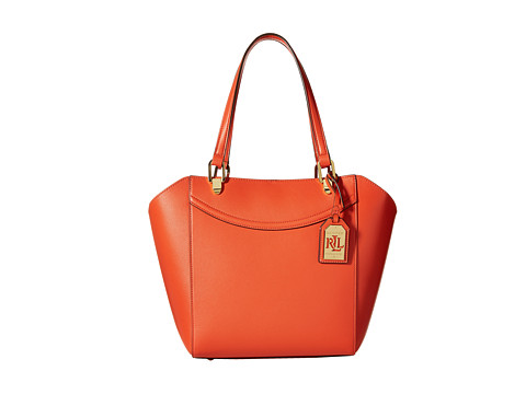 LAUREN by Ralph Lauren - Lexington Shopper (Dark Mandarin) Handbags