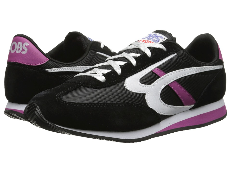 BOBS from SKECHERS - Sunset (Black/Hot Pink) Women's Lace up casual Shoes