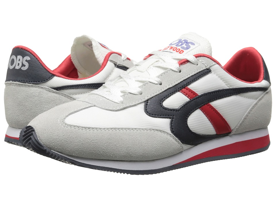 BOBS from SKECHERS - Sunset (White/Navy/Red) Women's Lace up casual Shoes