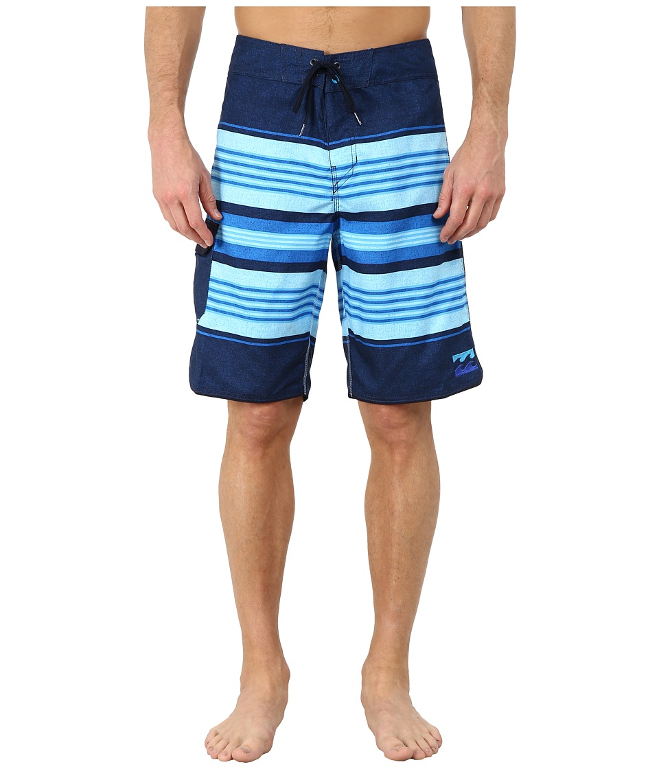 Billabong - All Day Stripe 21 Boardshort (Indigo) Men