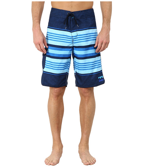 Billabong - All Day Stripe 21 Boardshort (Indigo) Men's Swimwear