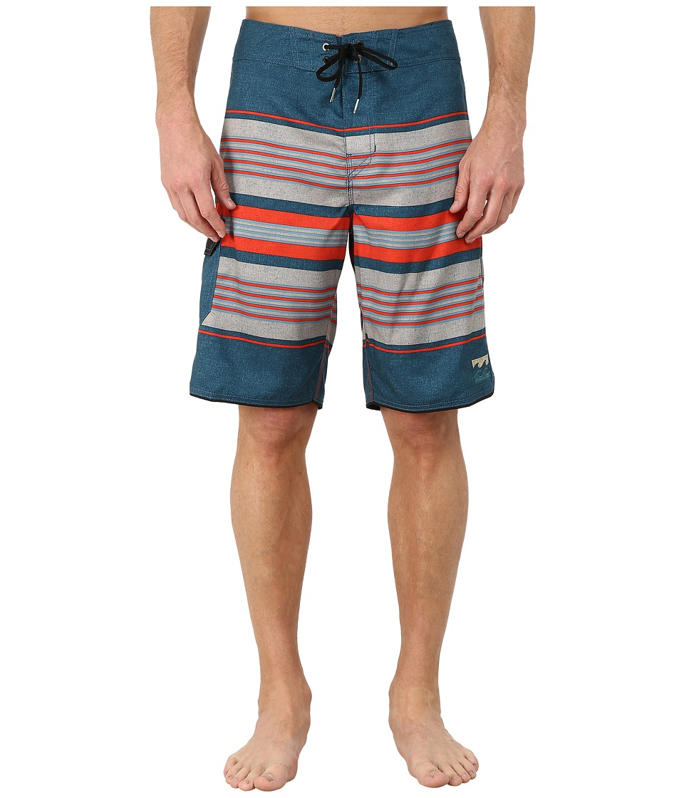 Billabong - All Day Stripe 21 Boardshort (Petrol) Men's Swimwear