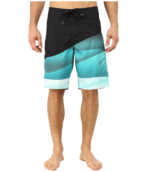 Billabong - Pulse Boardshorts (Black/Mint) Men's Swimwear