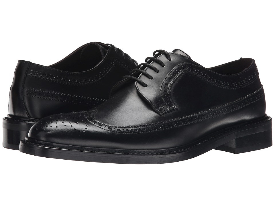 To Boot New York - Nathaniel (Black) Men's Lace Up Wing Tip Shoes