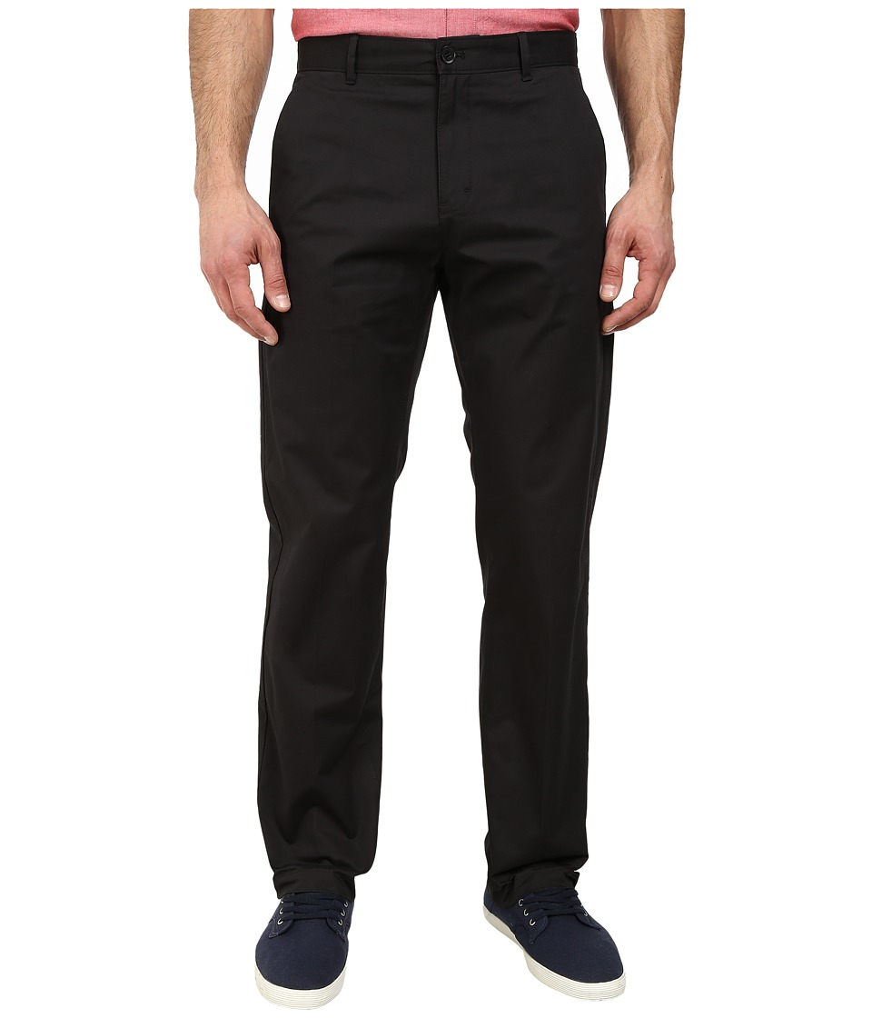 Calvin Klein - Sateen Chino Pants (Black) Men's Casual Pants