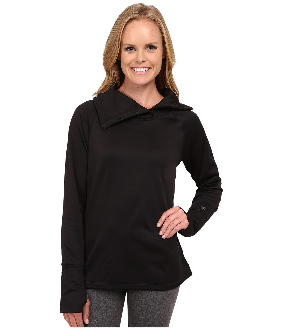 Champion - Tech Fleece Open Bottom Top (Black) Women's Long Sleeve Pullover
