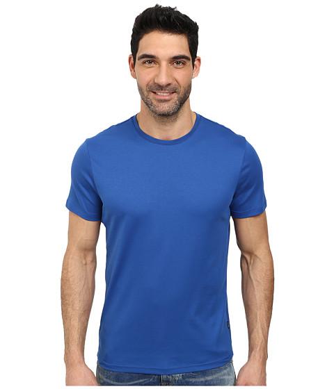 Calvin Klein - Jersey w/ Rib Short Sleeve Tee (True Blue) Men's T Shirt