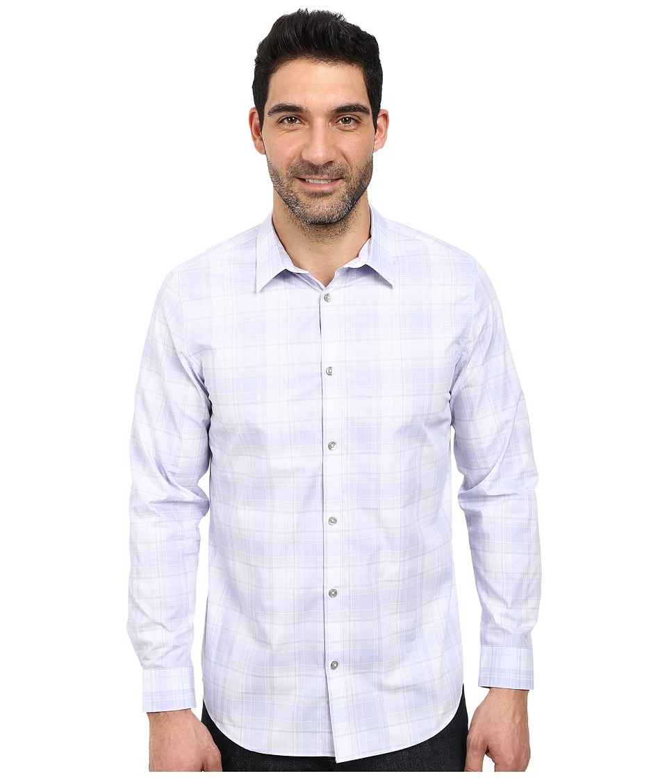 Calvin Klein - Plaid Cool Tech Woven Shirt (Lavender Dusk) Men's T Shirt