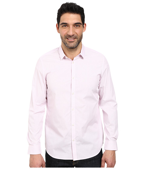 Calvin Klein - Cool Tech Ticking Stripe Woven Shirt (Cotton Candy) Men
