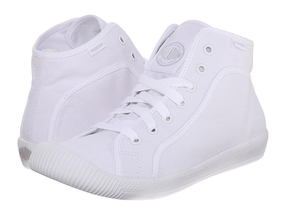 Palladium - Flex Lace Mid (White/Vapor) Women's Lace up casual Shoes