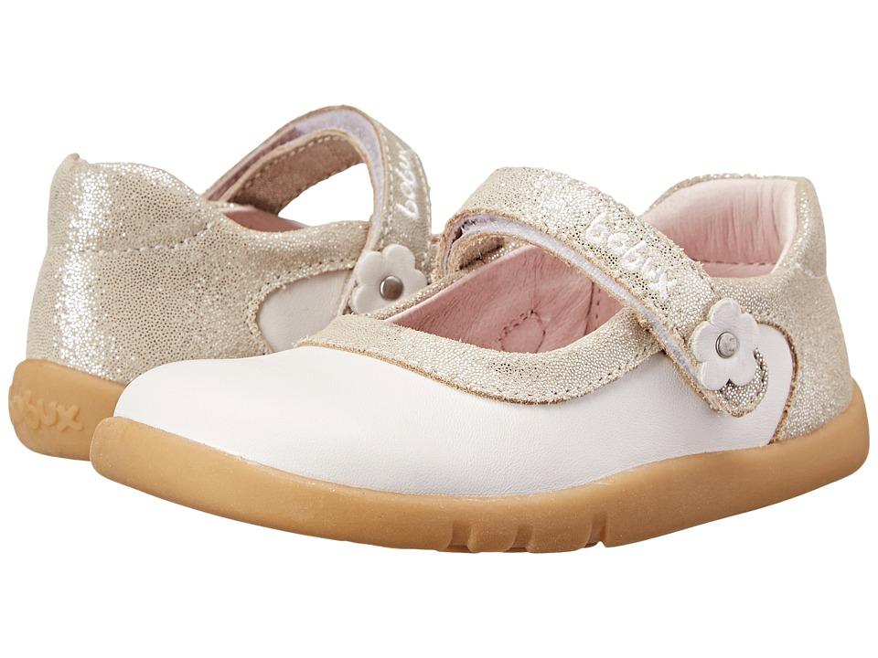 Bobux Kids - I-Walk Shine On Ballet Shoe (Toddler/Little Kid) (White) Girls Shoes