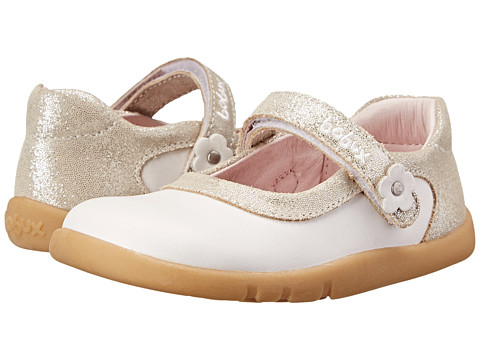 Bobux Kids - I-Walk Shine On Ballet Shoe (Toddler/Little Kid) (White) Girls Shoes