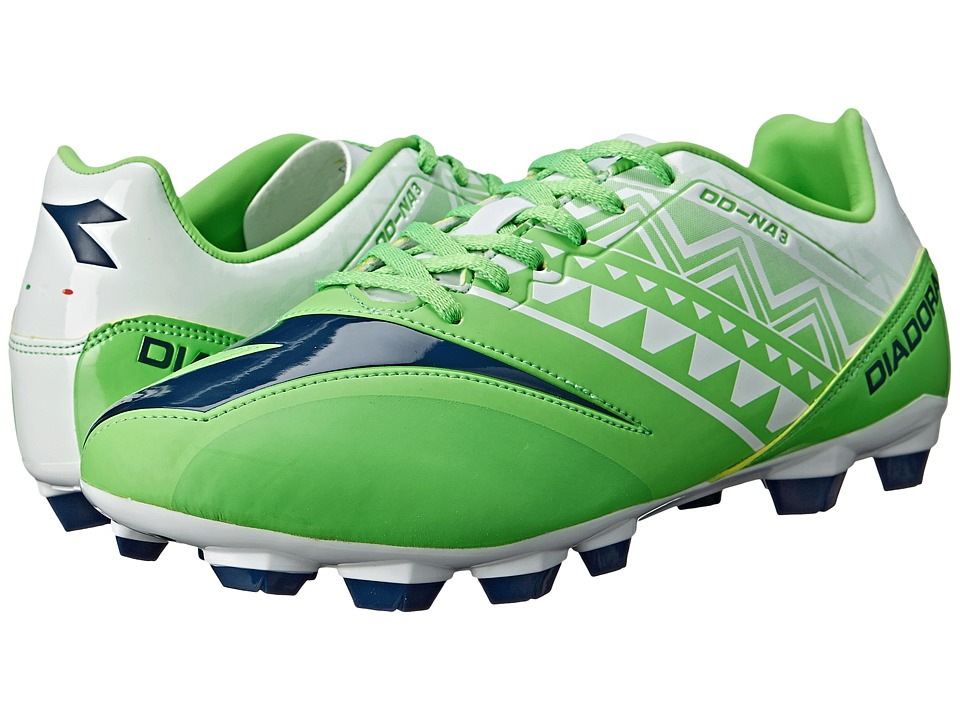 Diadora - DD-NA 3 R LPU (Fluo Green/White) Men's Soccer Shoes