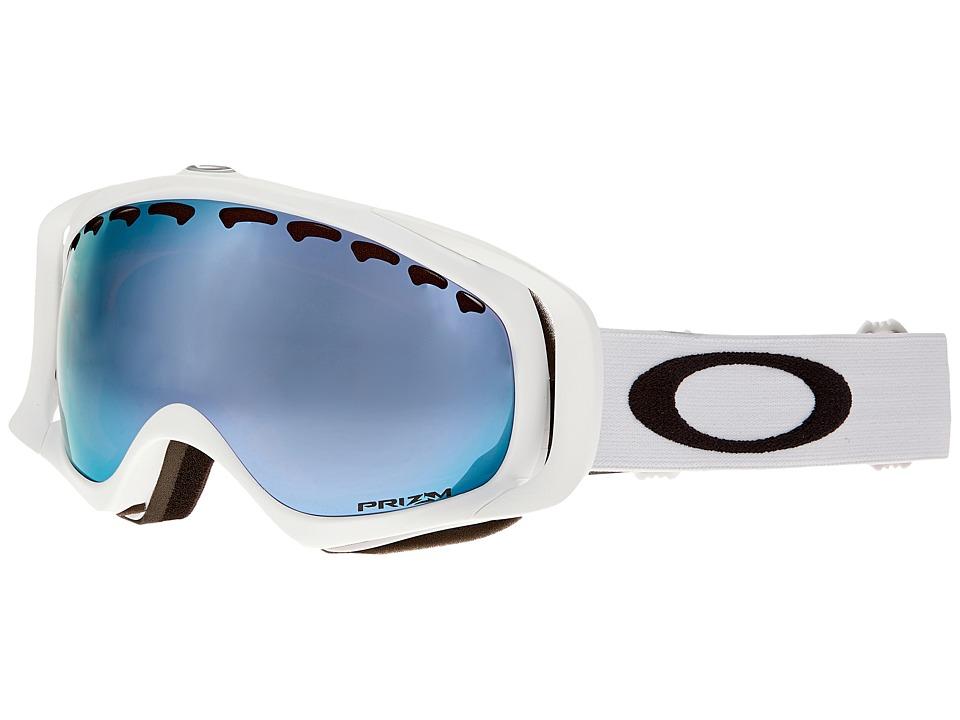 Oakley - Crowbar (Matte White/Prizm Sapphire Iridium) Snow Goggles