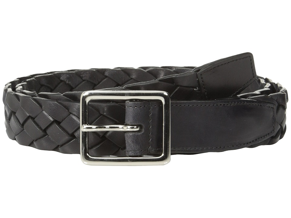 Cole Haan - 32mm Woven South American Cow (Black) Men's Belts