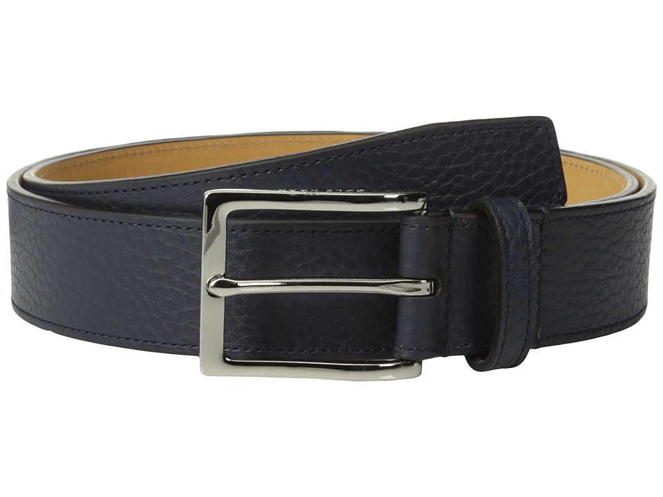 Cole Haan - 35mm Pebble Belt (Navy) Men's Belts