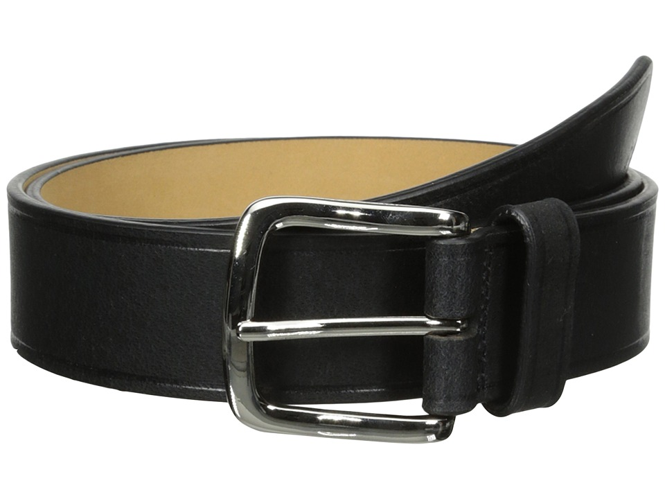 Cole Haan - 35mm Buff Harness Leather Belt (Black) Men's Belts