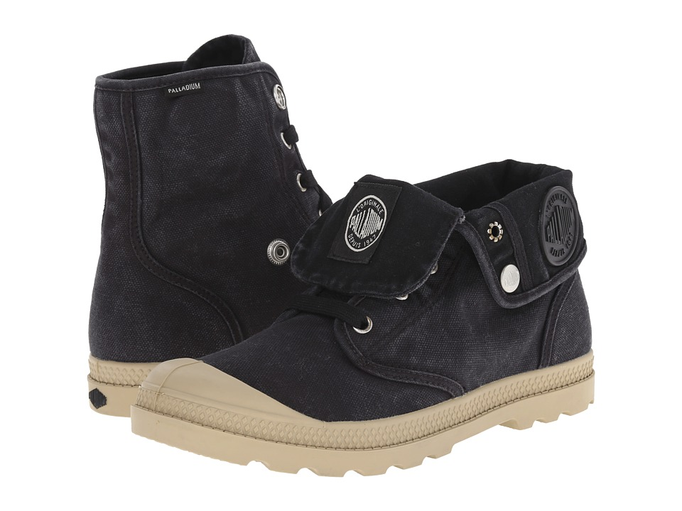 Palladium - Baggy Low LP (Black/Putty) Women's Lace-up Boots