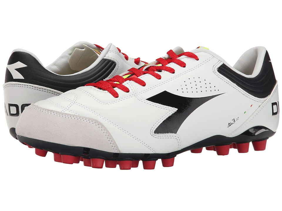 Diadora - Italica 3 LT MDPU 25 (White/Black) Men's Soccer Shoes