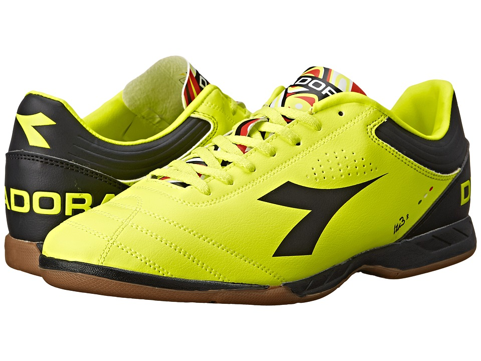 Diadora - Italica 3 R ID (Yellow Fluo DD/Black) Men's Soccer Shoes