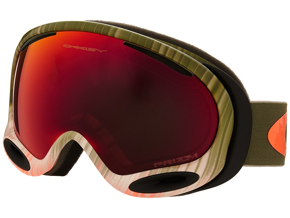 Oakley - A-Frame 2.0 (Wet Dry Olive Orange/Prizm Torch Iridium) Snow Goggles
