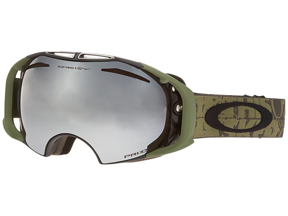 Oakley - Airbrake (Tagline Gunmetal/Prizm Black Iridium) Snow Goggles