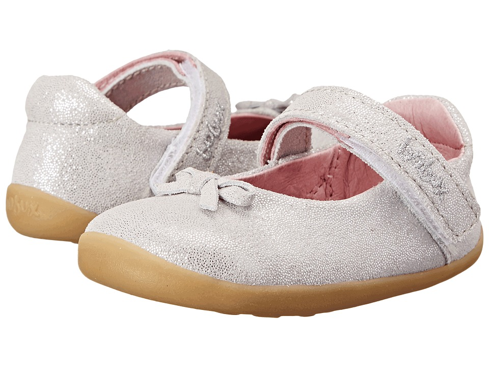 Bobux Kids - Step Up Little-Bo-Peep Ballet Shoe (Infant/Toddler) (White Sparkle) Girls Shoes