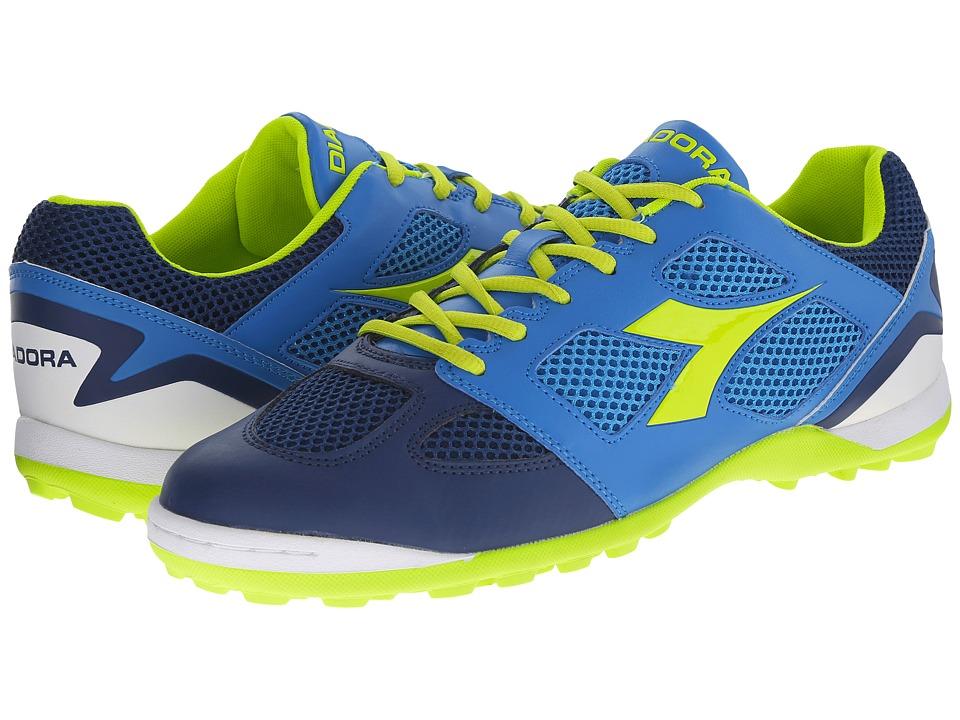 Diadora - Quinto V TF (Navy/Royal) Men's Soccer Shoes