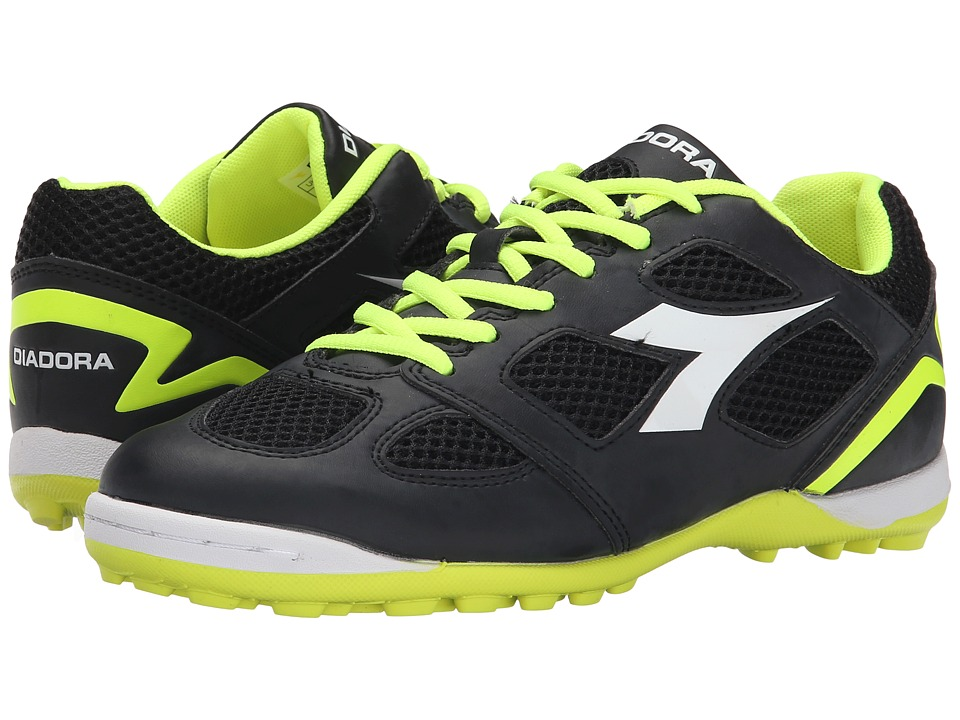 Diadora Quinto V TF (Black/White/Fluo Yellow) Men