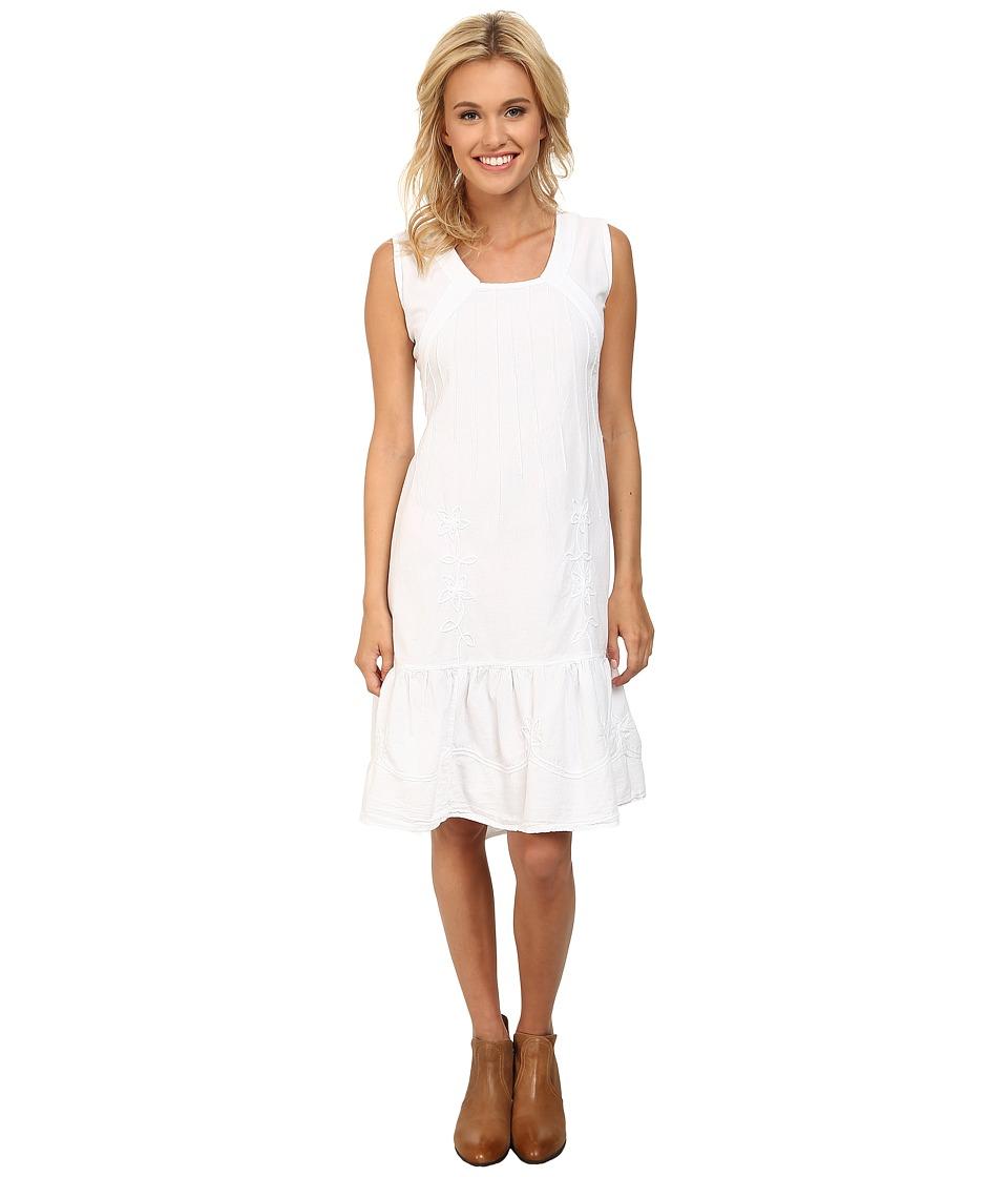 Scully - Adella Sleeveless Dress (White) Women's Dress