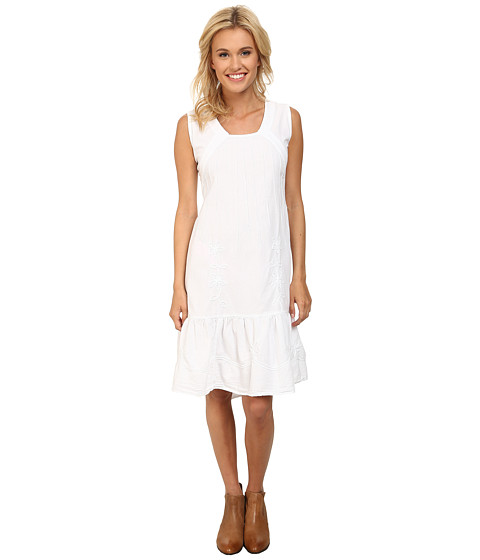Scully - Adella Sleeveless Dress (White) Women's Dress