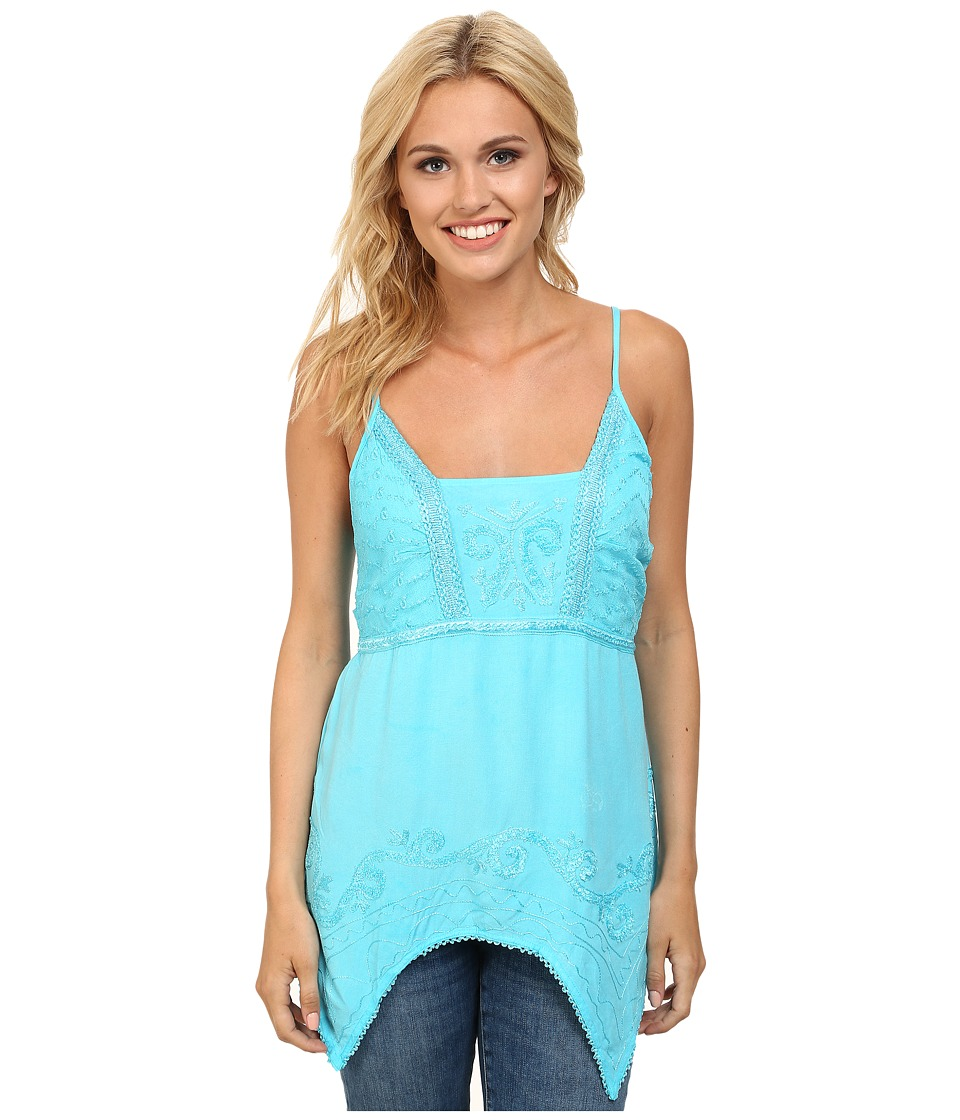 Scully - Abelina Tank Top (Turquoise) Women's Sleeveless