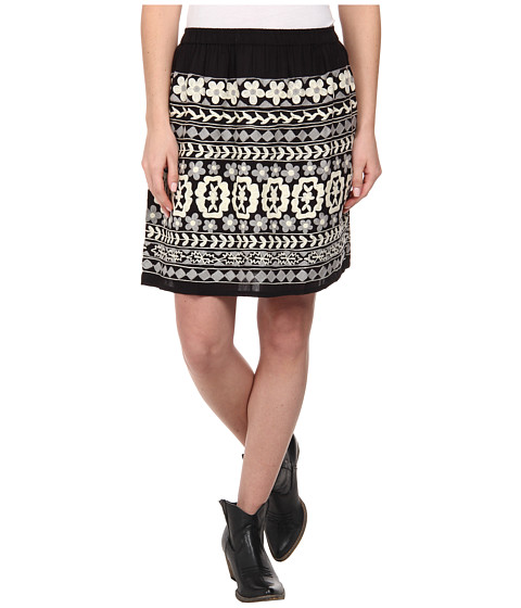 Scully - Embroidered Ondine Skirt (Black) Women's Skirt