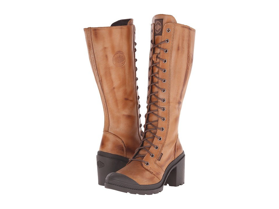 Palladium - Parade Heel L Zip (Copper Kettle/Chocolate) Women's Boots