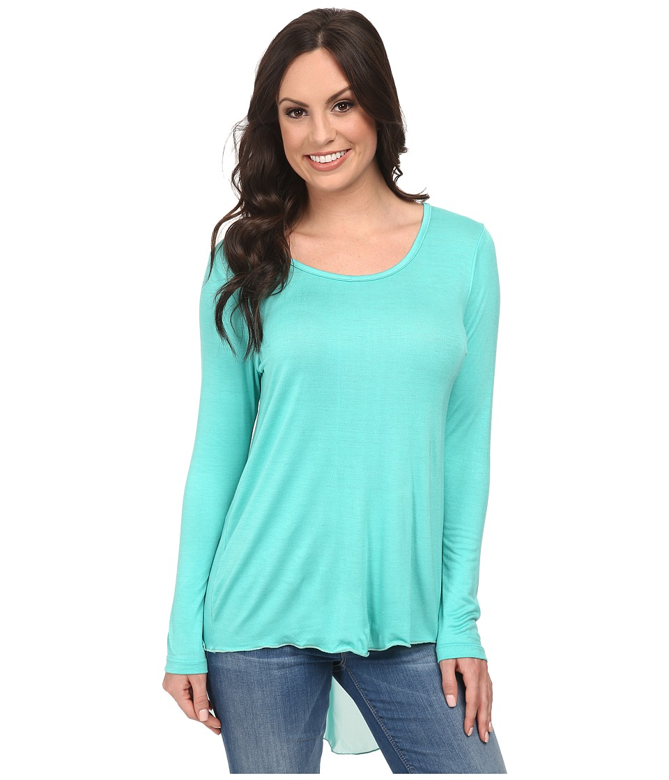 Scully - Bette Hi Lo Top (Topaz) Women's T Shirt