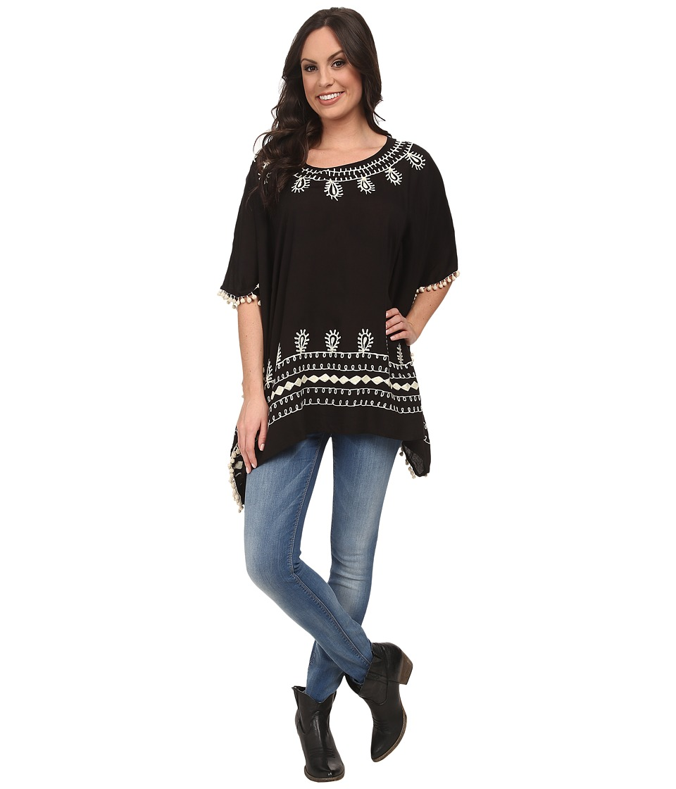 Scully - Rowena Poncho Tunic (Black) Women's Blouse