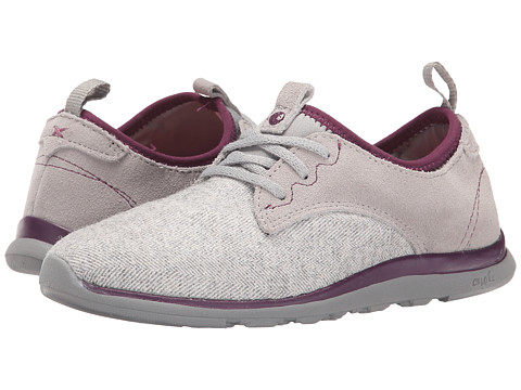 Cushe - Shakra (Light Grey Herringbone/Grape) Women's Shoes