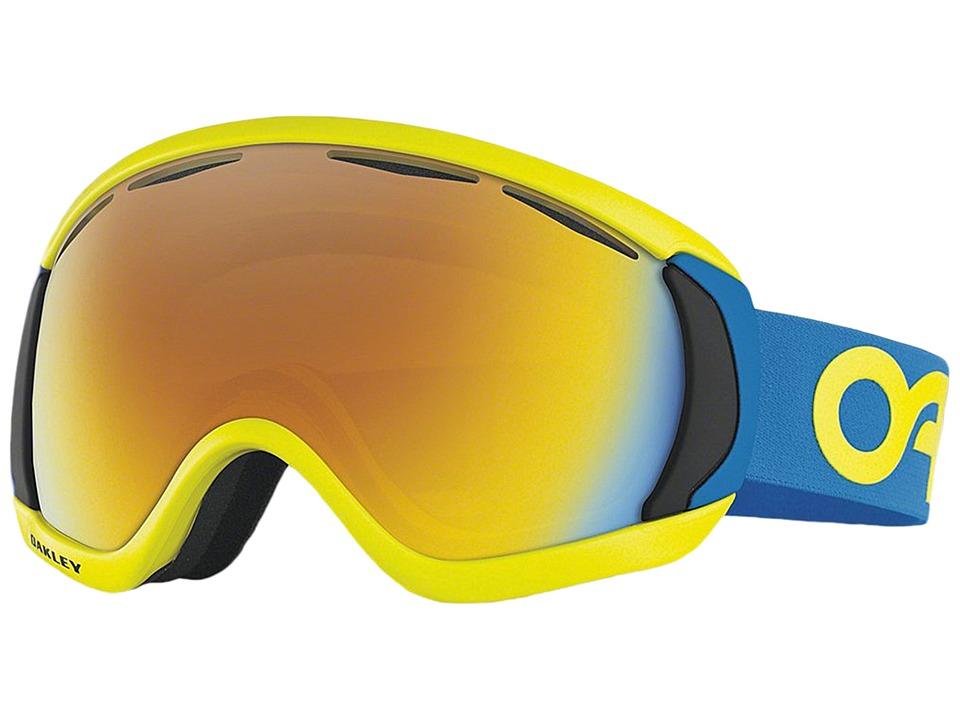Oakley - Canopy (Factory Pilot Retina Blue/Fire Iridium) Snow Goggles