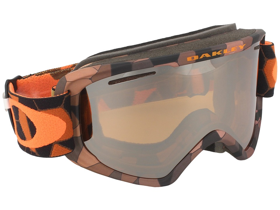 Oakley - O2 XM (Cell Blocked Copper Orange/Black Iridium) Sport Sunglasses