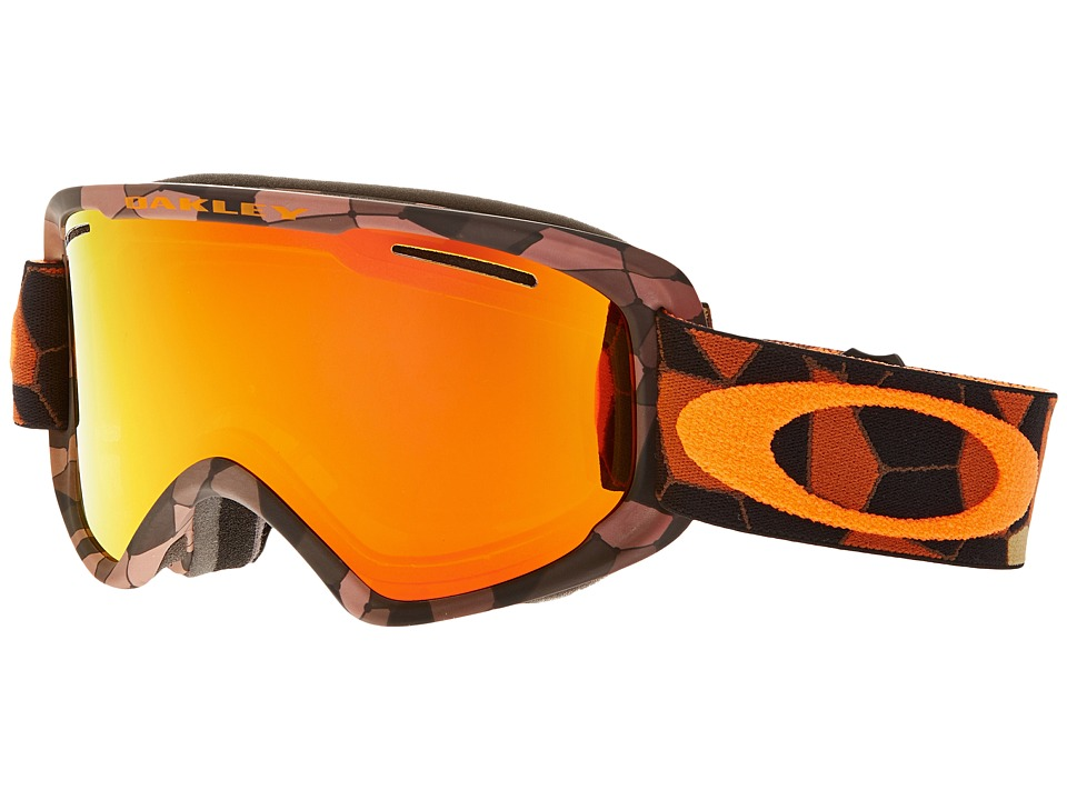 Oakley - O2 XM (Cell Blocked Copper Orange/Fire Iridium) Sport Sunglasses