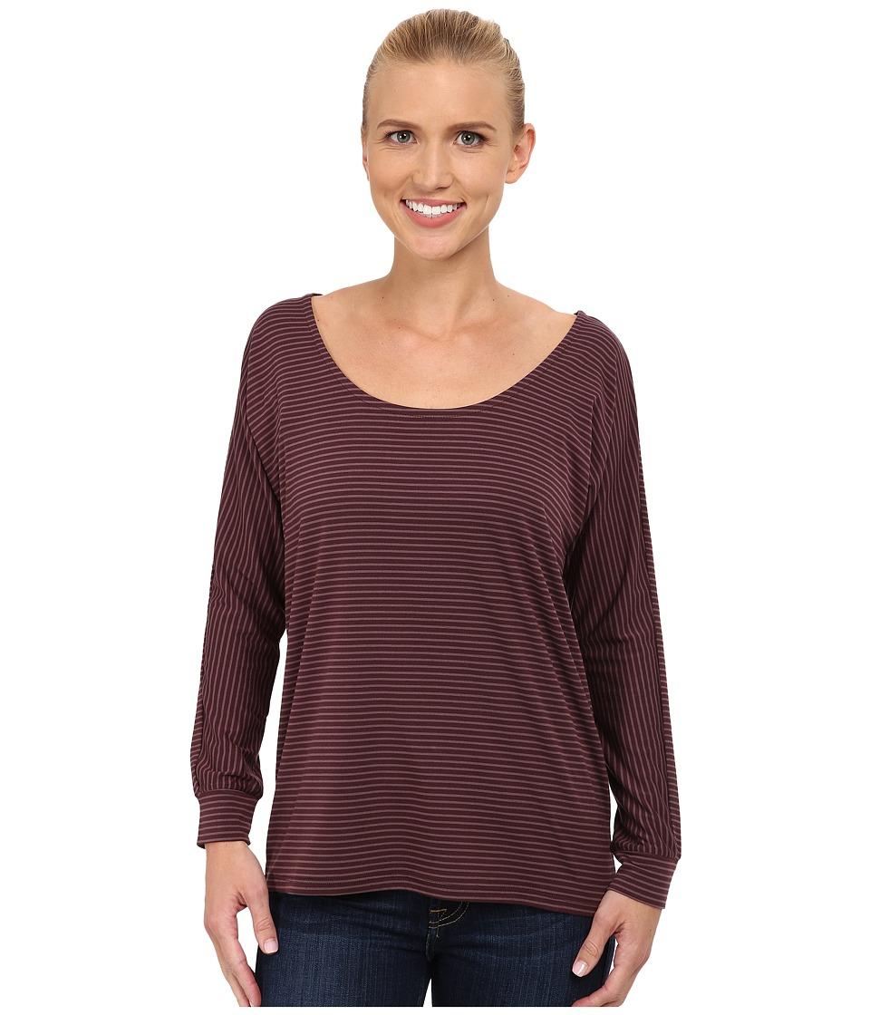 Carve Designs - Cedars Dolman Sleeve Top (Spice Stripe) Women's Long Sleeve Pullover
